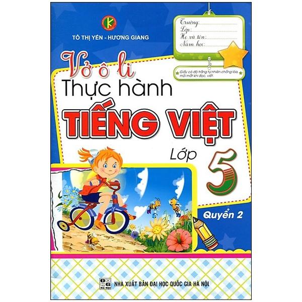 Vở Ô Li Thực Hành Tiếng Việt Lớp 5 (Quyển 2)