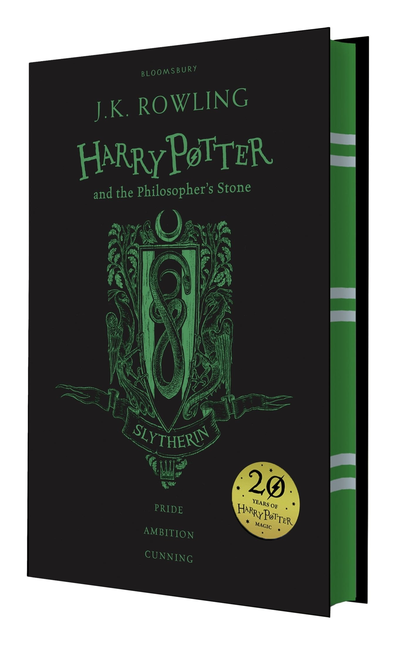 harry potter and the philosopher's stone slytherin edition - hardback
