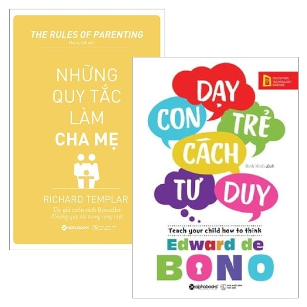 combo nhung quy tac lam cha me + day con tre cach tu duy (bo 2 cuon)