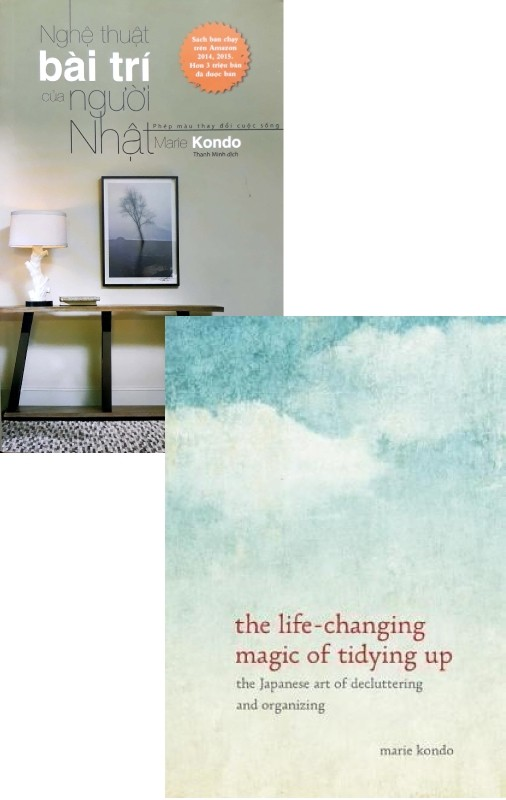 combo the life-changing magic of tidying up: the japanese art of decluttering and organizing hrd - nghe thuat bai tri cua nguoi nhat