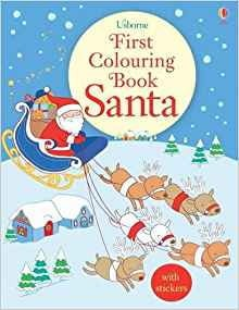 first colouring book: santa