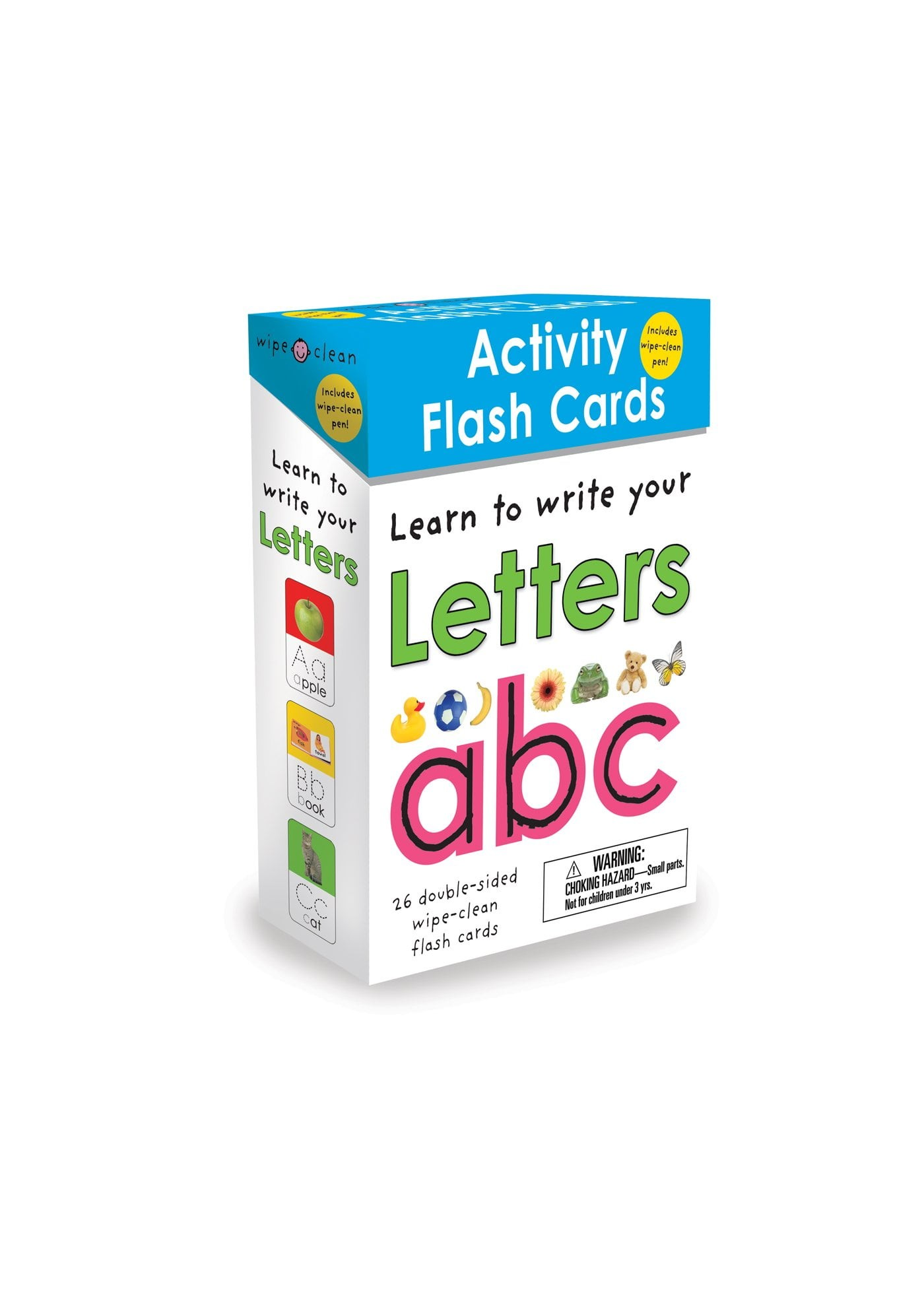 wipe-clean: activity flash cards letters