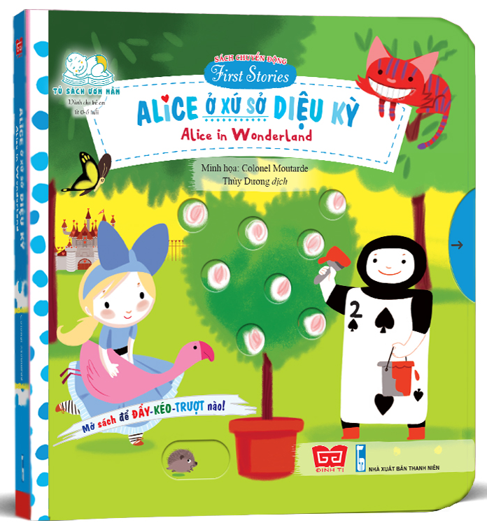 sach chuyen dong - first stories - alice in wonderland - alice o xu so dieu ky