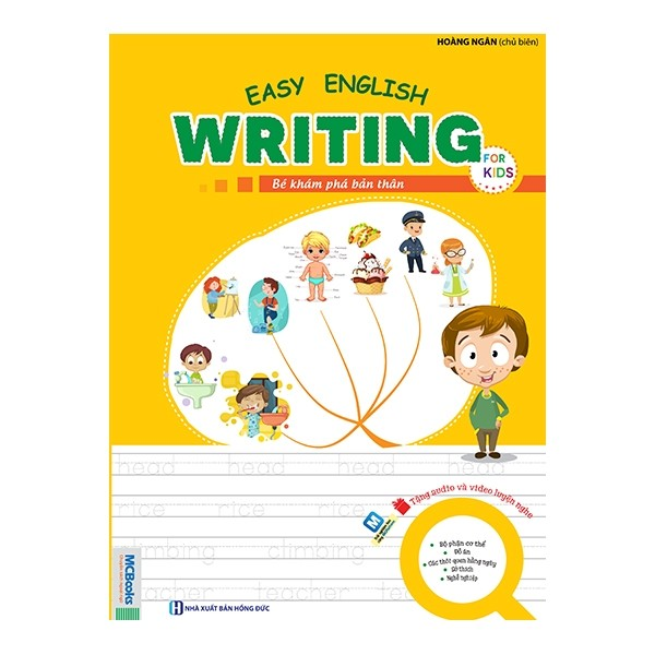easy english writing for kids - be kham pha ban than