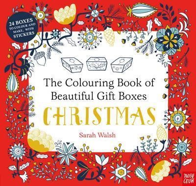 colouring book boxes: christmas