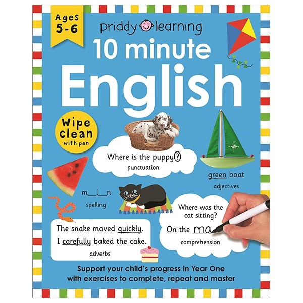 wipe clean workbook: 10 minute english
