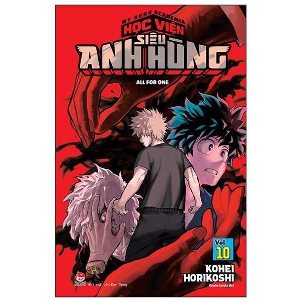 my hero academia - hoc vien sieu anh hung tap 10: all for one(tai ban 2019)