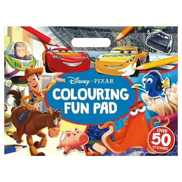 disney pixar mixed: colouring fun pad (giant colour me pad disney)