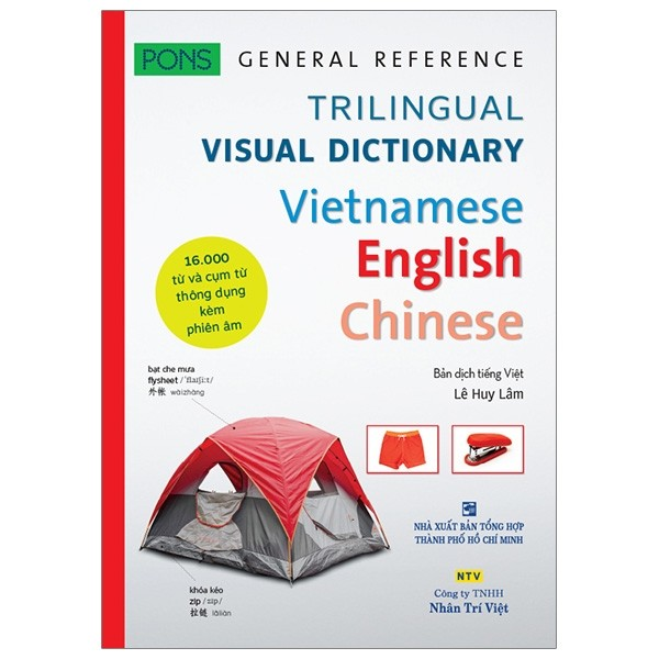 pons general reference - trilingual visual dictionary vietnamese - english - chinese