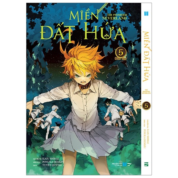 mien dat hua - the promised neverland - tap 5 - phien ban bia trang (white ver)