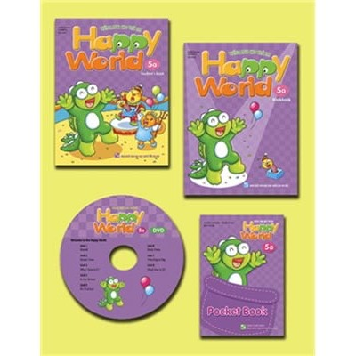 Bộ Happy World 5A - Tiếng Anh Cho Trẻ Em (Student's Book + Workbook + Pocket Book + DVD)