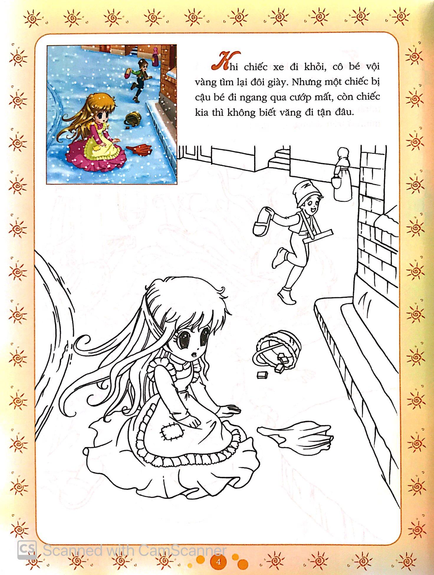 Sách Cổ Tích Tô Màu Công Chúa - Cô Bé Bán Diêm - FAHASA.COM