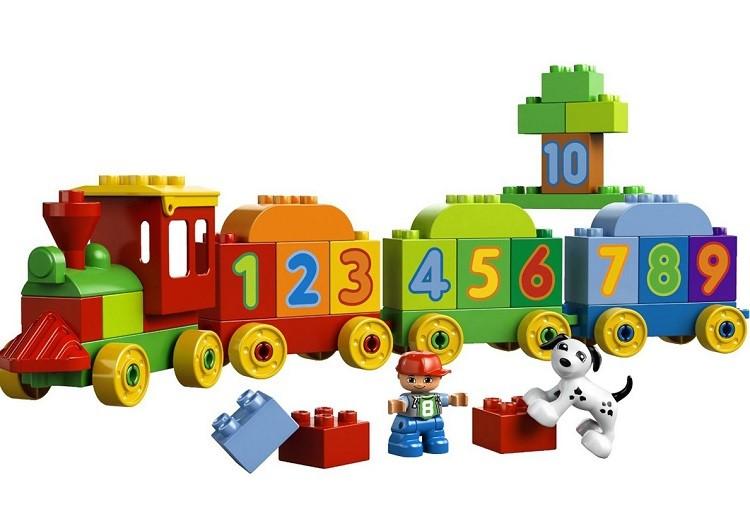 Bộ xếp hình Lego Duplo tàu lửa học số