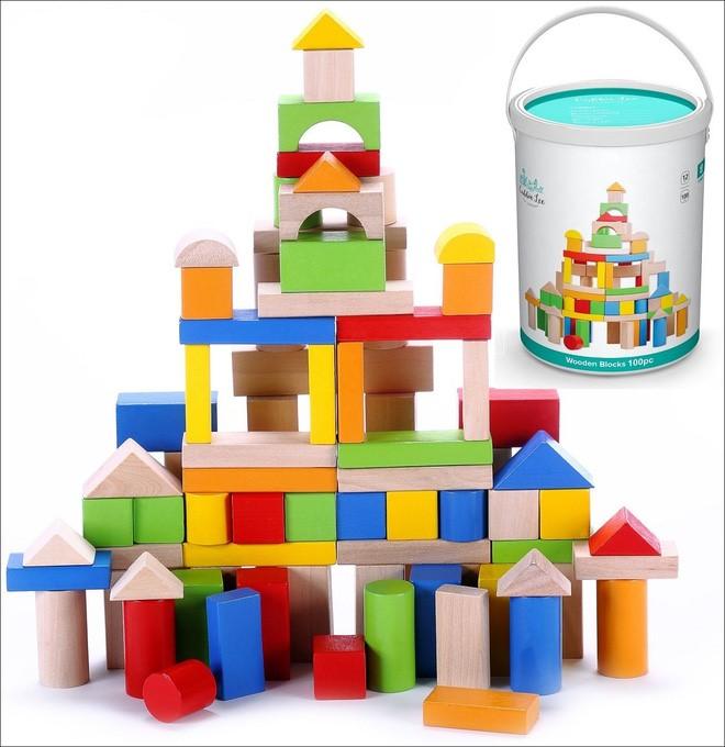 Khối gỗ xếp hình đồ chơi cho bé trai 1 tuổi